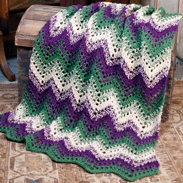 Caron Woodland Waves Throw in color
