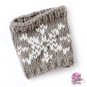 Bernat Knit Snowflake Mug Hug