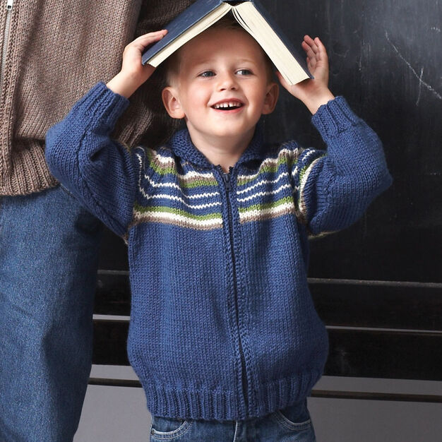 Patons Child Raglan Sleeve Jacket, Solid - 2 yrs in color