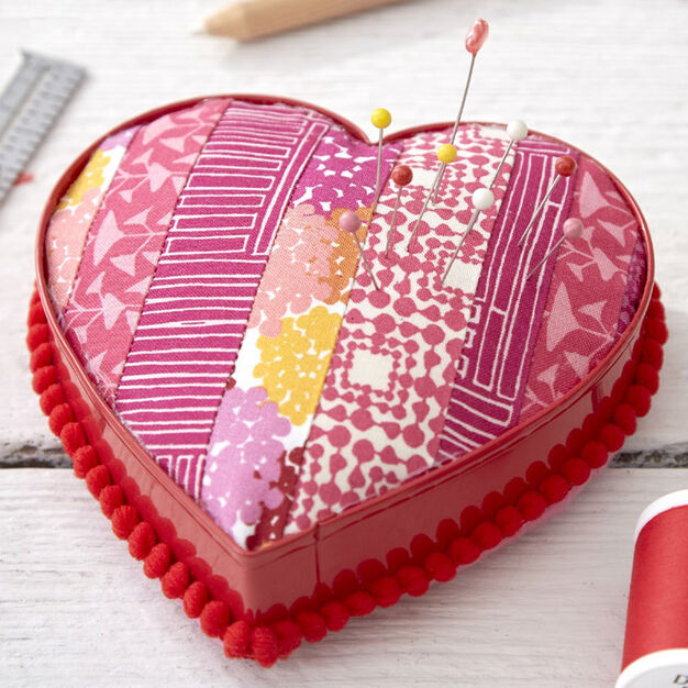 Dual Duty Pinned to my Heart Pin Cushion made from Cookie Cutter