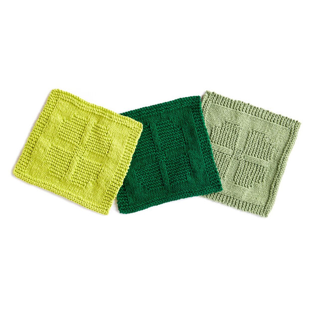 Lily Sugar'n Cream Lucky Charm Knit Dishcloth in color