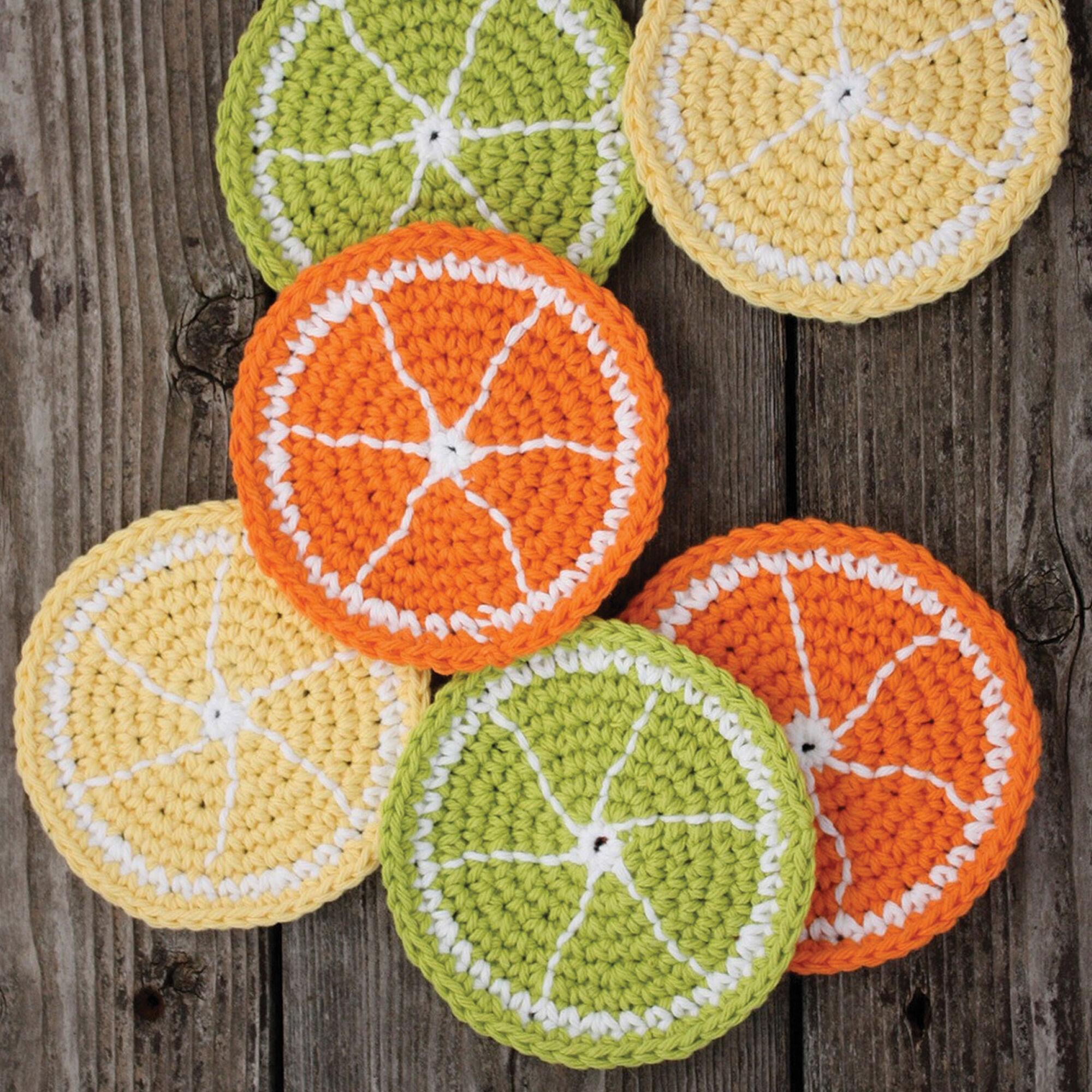 Lily Sugarn Cream Citrus Slice Coasters Lime Yarnspirations