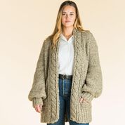 Go to Product: Patons Cozy Cabled Crochet Cardigan, XS/S in color