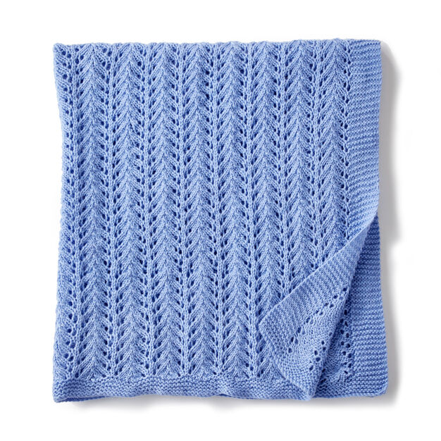 Bernat Lacy Knit Baby Blanket Yarnspirations