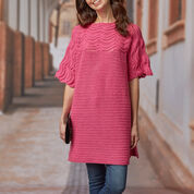 Red Heart Comfy Crochet Sweater, S