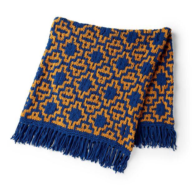 Bernat Mosaic Diamonds Knit Blanket in color