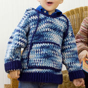 Red Heart Child's Hooded Sweatshirt, 4 yrs