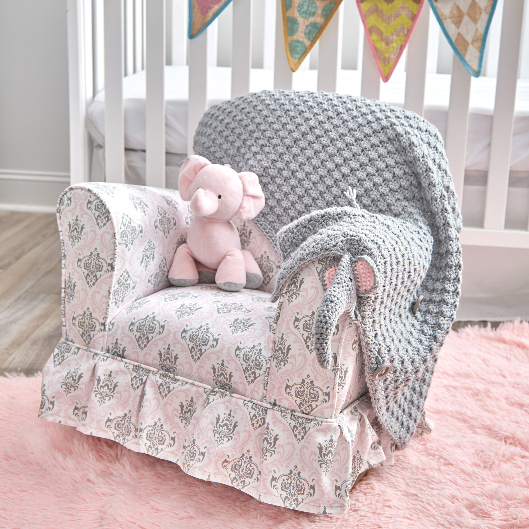 Filet Elephant Blanket Crochet Pattern - The Lavender Chair | 2000x2000