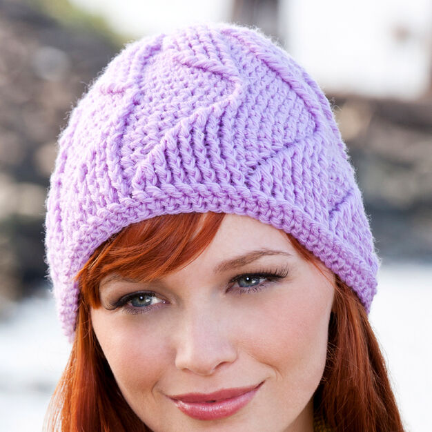 Red Heart Waves-A-Head Hat