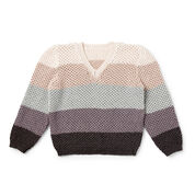 Caron x Pantone Shaded Steps Knit V-Neck Pullover, XS/S