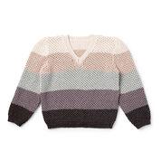 Caron x Pantone Shaded Steps Knit V-Neck Pullover, XS/S