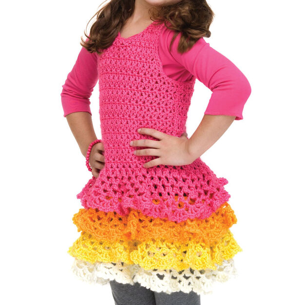 Caron Rows o' Ruffles Dress, 3-4 yrs in color