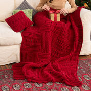 Go to Product: Red Heart Divine Textured Throw & Pillows in color