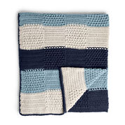 Caron Textures Stripes Crochet Blanket
