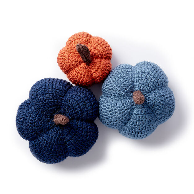 Caron Harvest Crochet Pumpkins, Dark Country Blue