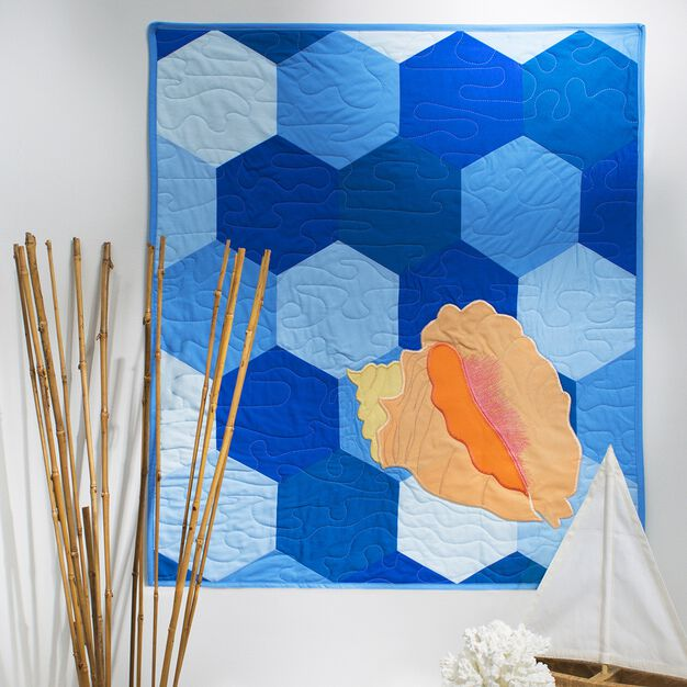 Coats & Clark Conch Shell Quilt in color