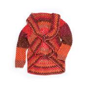 Caron Granny Stripes Crochet Cardigan, XS/S
