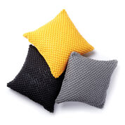 Caron Pebble Pop Knit Pillows, Sunflower