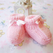 Patons Beehive Booties, 3 months