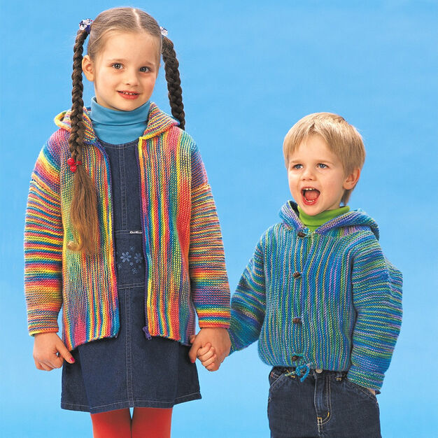 Patons Garter Stitch Jackets, Boys - 2 yrs in color