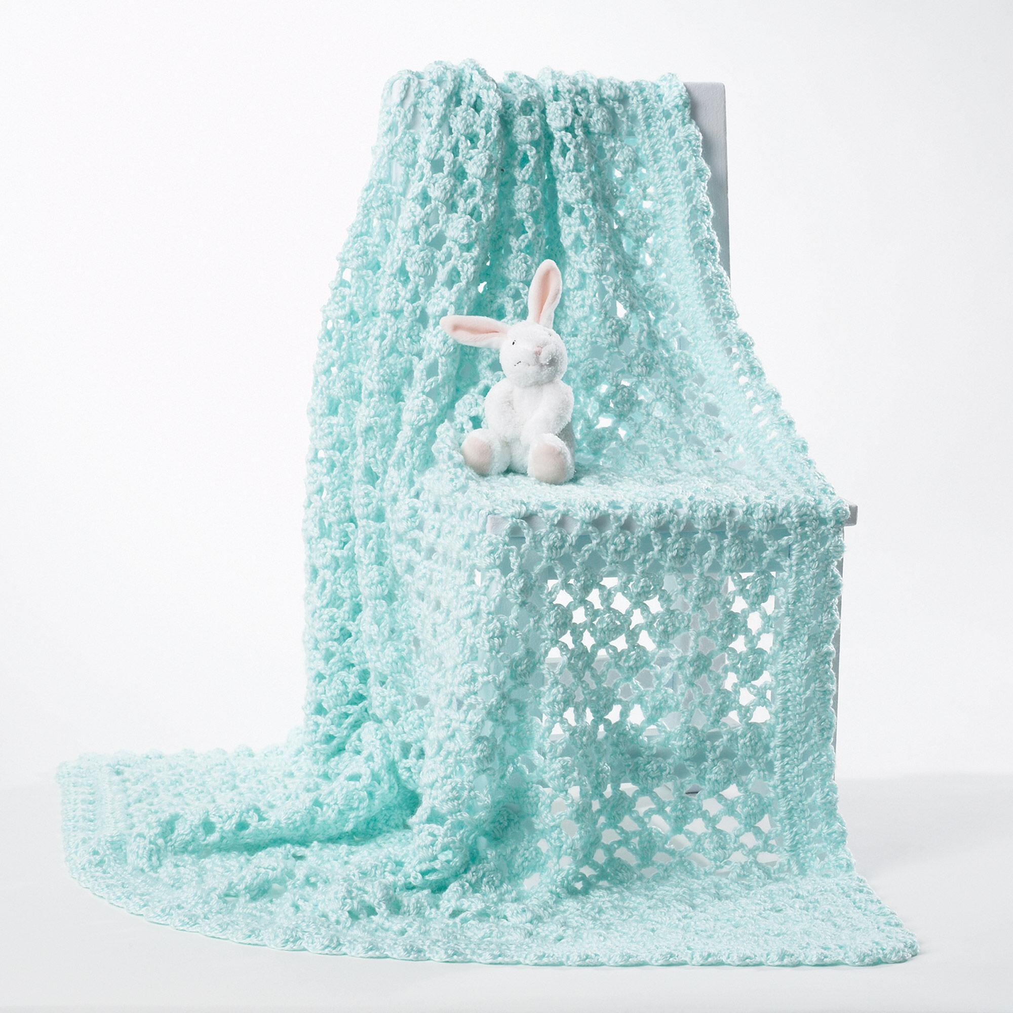 Bernat Crochet Baby Blanket, White Pattern | Yarnspirations