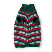 Red Heart Stylish Knit Dog Sweater, XS