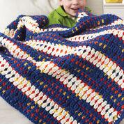 Bernat Woven-Look Striped Blanket