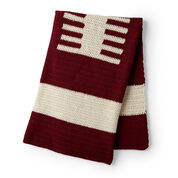 Red Heart Football Lover's Crochet Throw