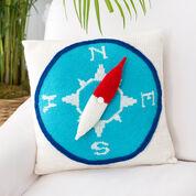 Red Heart Compass Pillow