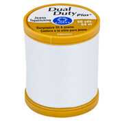 Go to Product: Dual Duty Plus Jeans & Topstitching Thread 60 yds, White in color White
