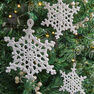 Aunt Lydia's Beautiful Lacy Snowflake Ornaments in color