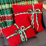 Red Heart Plaid Christmas Blanket in color  Thumbnail Main Image 7}