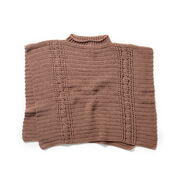 Go to Product: Red Heart Transitions Cabled Poncho, Average in color