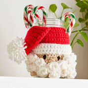 Red Heart Santa Candy Jar