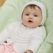 Go to Product: Red Heart Baby Jacket and Bonnet, 6 mos in color