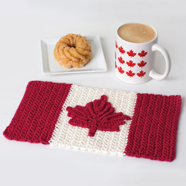 Lily Sugar'n Cream Oh Canada Crochet Dishcloth in color  Large Main Image 2