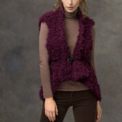 Red Heart Gabrielle's Furry Vest, S