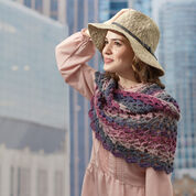 Red Heart Roundabout Cowl