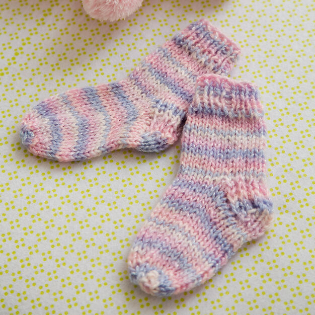 Red Heart Happy Toes Baby Socks in color