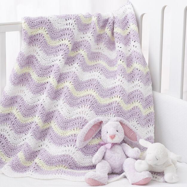 Bernat Wavy Ripple Blanket in color