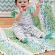Red Heart Textured Stripes Baby Blanket