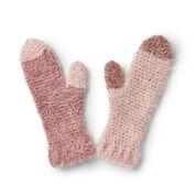 Caron Cozy Crochet Mittens