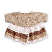 Bernat Striped Crochet Coat, 6 mos.