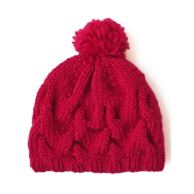 Patons Cushy Cable Hat in color