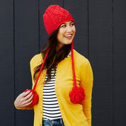 Red Heart Entwined Chic Cable Hat