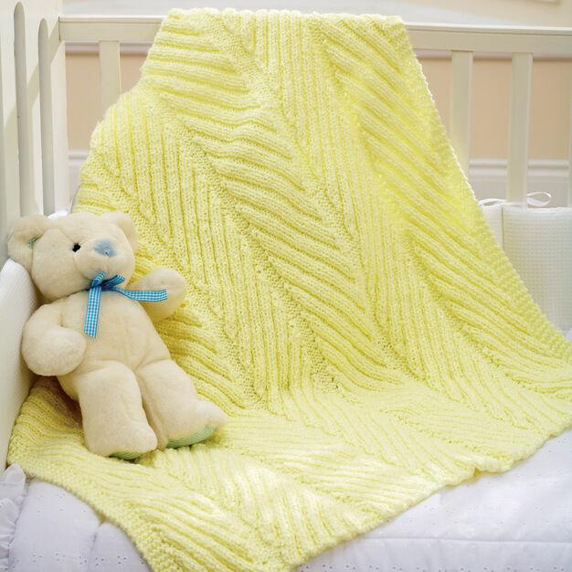 Bernat Diagonal Rib Blanket in color