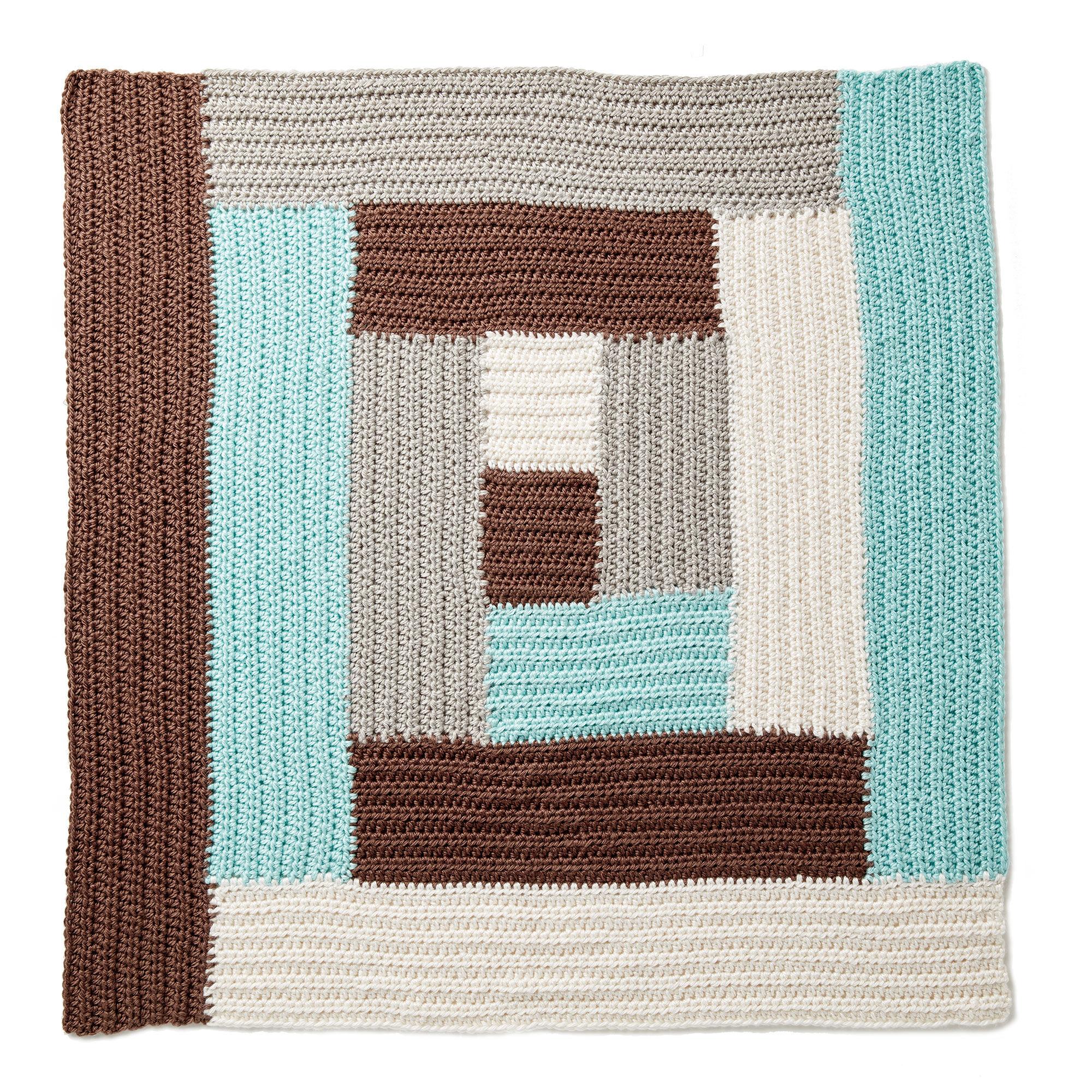 Bernat Log Cabin Crochet Baby Blanket | Yarnspirations