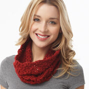 Caron Lacy Cluster Cowl, Version 1