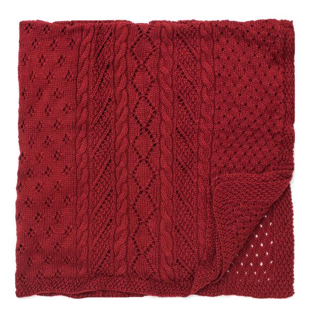 Caron Lace Panel Throw