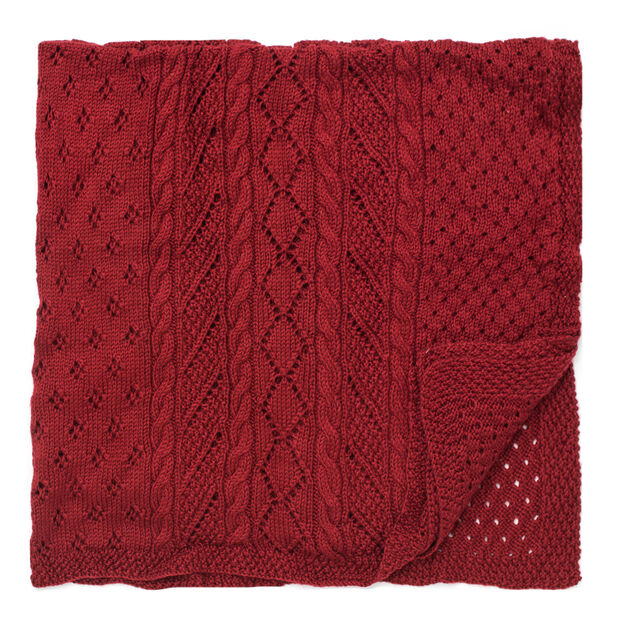 Caron Lace Panel Throw